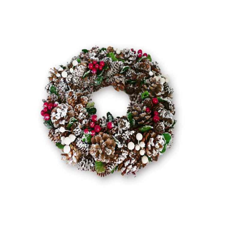 Christmas Tree Pine Cone Wreath Ornament