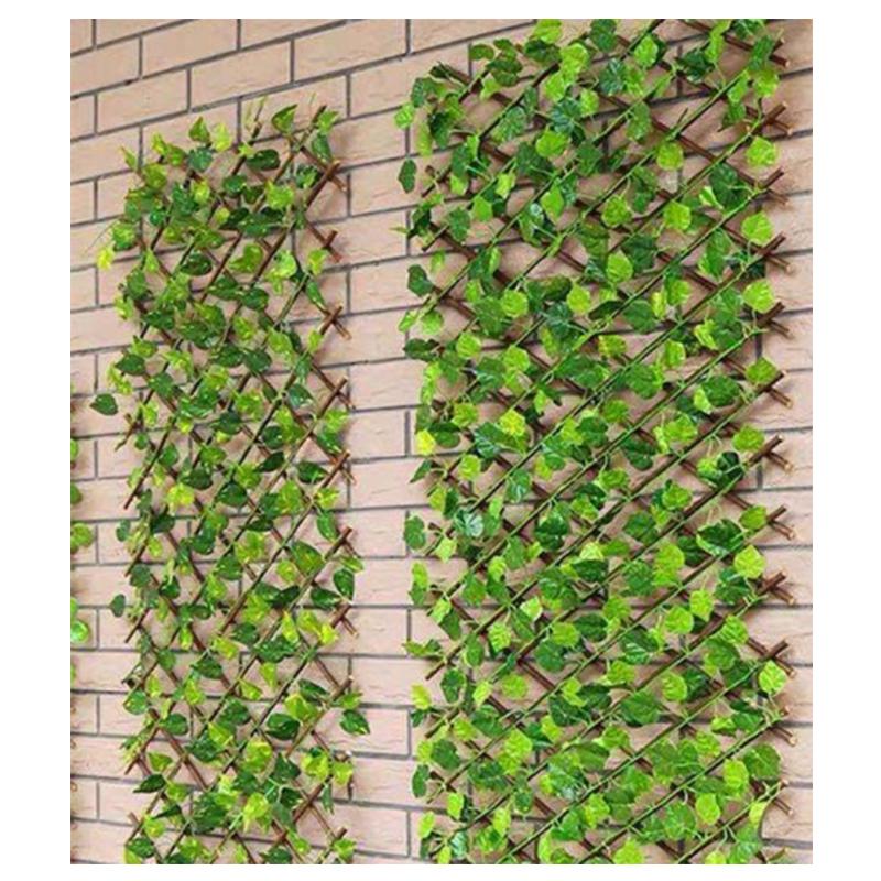 Expandable Trellis Fence With Leaf